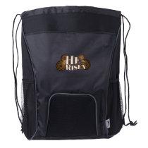 He is Risen Easter Christian Gift Drawstring Backpack