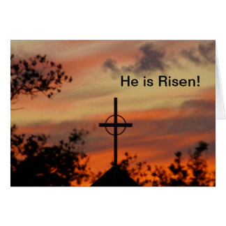 He is Risen!  Easter Message Greeting Card