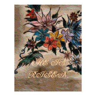 He is risen- floral array letterhead