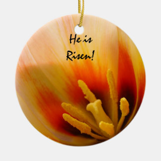 He is Risen! gift hanging ornament Tulip Flower