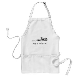 He is risen holy cross adult apron