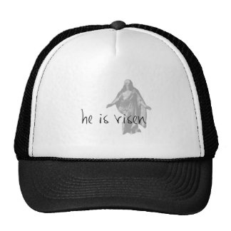 he is risen jesus christ easter lds mormon trucker hat