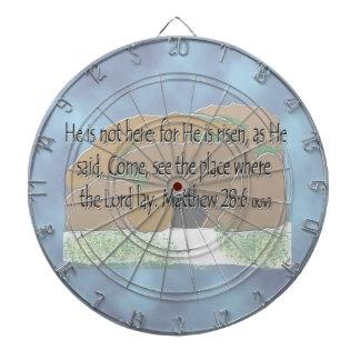 He is Risen - Matthew 28:6 Dart Board
