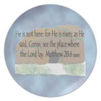 He is Risen - Matthew 28:6 Dinner Plate