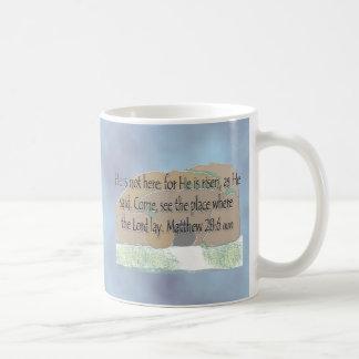 He is Risen - Matthew 28 6 Coffee Mugs
