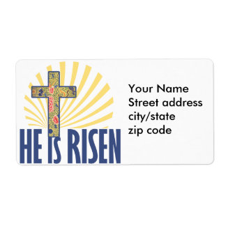 He is RISEN on Easter Shipping Label