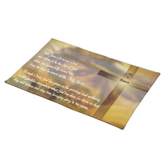 He Is Risen - Religious Easter Bible Verse Cloth Placemat