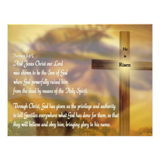 He Is Risen - Religious Easter Bible Verse Full Color Flyer