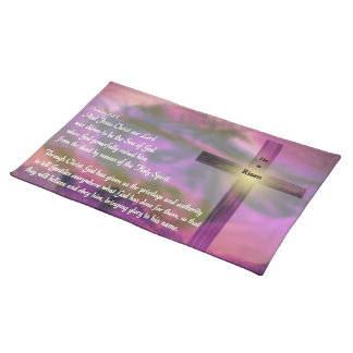 He Is Risen - Religious Easter Bible Verse Placemat