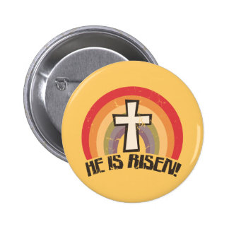 He Is Risen Religious Easter Buttons
