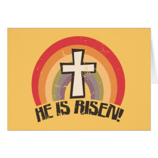 He Is Risen Religious Easter Card
