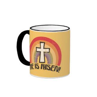 He Is Risen Religious Easter Coffee Mug