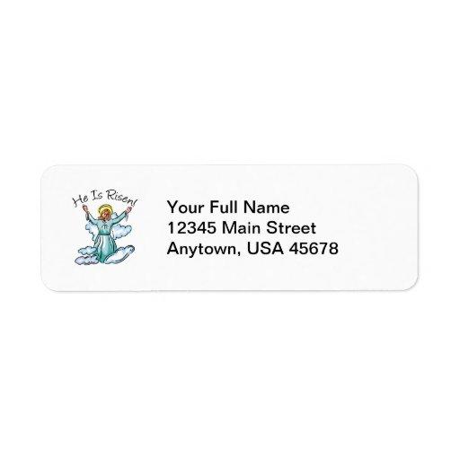He Is Risen Return Address Label