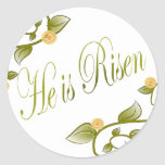 He is Risen Round Stickers
