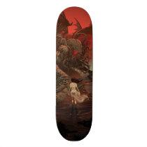 artsprojekt, cthulhu, lovecraft, h.p., Skateboard com design gráfico personalizado