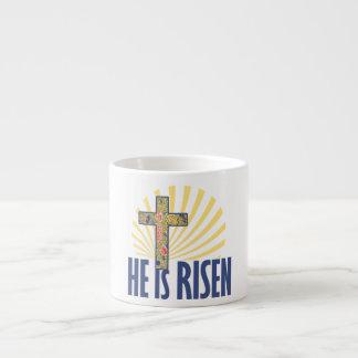 He is risen espresso mug