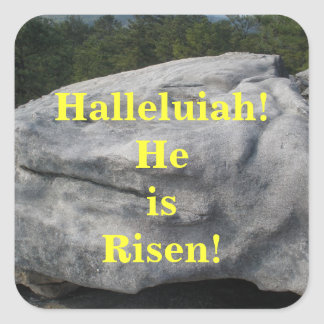 He is Risen! Square Sticker