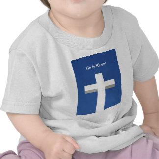 He is Risen!, White cross on Aruba T Shirt