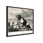 He Is Saved by Currier and Ives Rescue Dog Canvas Prints