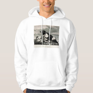 He Is Saved by Currier and Ives Rescue Dog Hoody