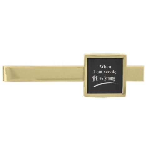 Gold Finish Tie Bar
