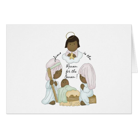 He is the reason for the season (African American) Card