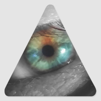 He Is Watching! (The All Knowing Eye) Triangle Sticker