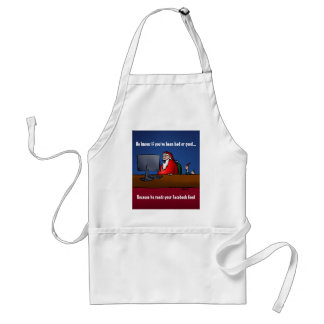 He Knows If You've Been Bad Funny Santa Adult Apron