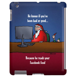 He Knows If You've Been Bad Funny Santa iPad Case