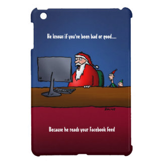 He Knows If You've Been Bad Funny Santa iPad Mini Cases