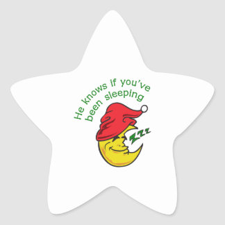 HE KNOWS IF YOUVE STAR STICKER