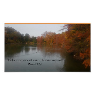 He Leads me Beside Stil Waters Poster