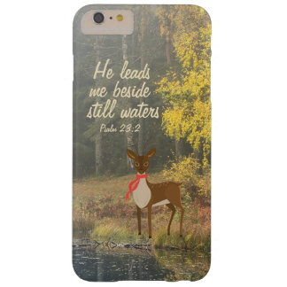 He Leads Me Beside Still Waters Deer by the Water Barely There iPhone 6 Plus Case