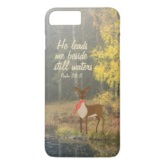 He Leads Me Beside Still Waters Deer by the Water iPhone 7 Plus Case