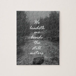 He Leads me Beside the Still Waters Bible Verse Puzzle