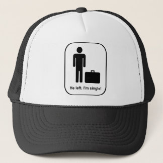 He Left. I'm Single Trucker Hat