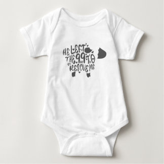 He Left The 99 Sheep Christian Quotes Bible Verse Baby Bodysuit