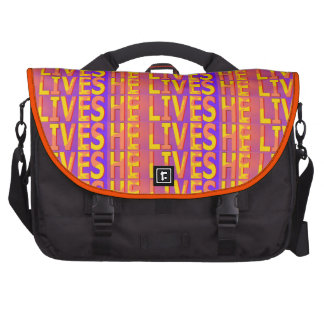 He Lives (fiery) Bags For Laptop