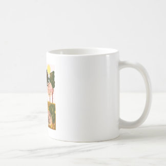 He lives in the forest and enjoys it))). classic white coffee mug