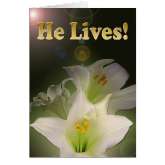 He Lives Note Card