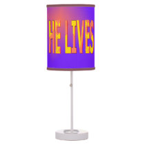 He Lives Shaded Lamp