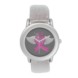 He llevado a cabo un ángel (el cáncer de pecho) reloj de mano