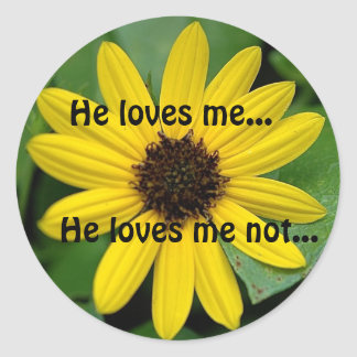 He loves me..., He loves m... Round Stickers