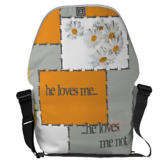 he loves me, he loves me not farrowed courier bag