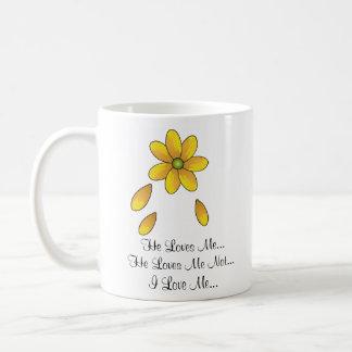 He Loves Me...He Loves Me Not...I L... Classic White Coffee Mug