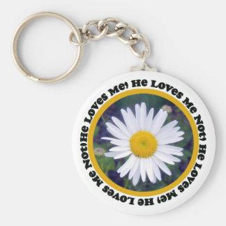 He Loves Me, He Loves Me Not Key Chain