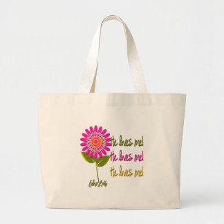 He Loves Me Large Tote Bag