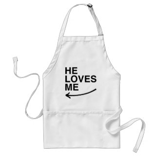He loves me (left).png apron