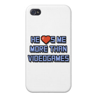 He Loves Me More Than Videogames Case For iPhone 4