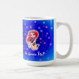 He Loves Me Mug